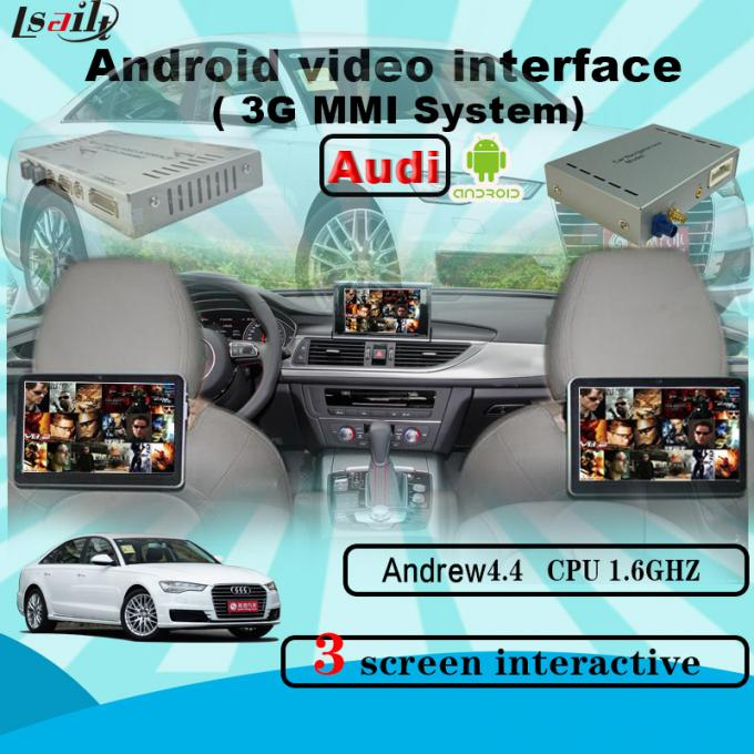 Quad Core Android Navigation box , Upgraded Multimedia Video Interface for AUDI