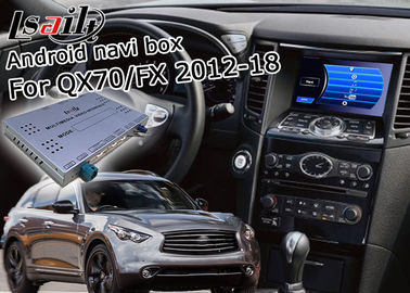 Android Navigation Car Video Interface Support Waze / Youtube For Infiniti QX70 / FX