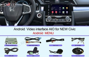 Çin HD 2016 Civic Honda Video Arayüzü Dokunmatik ekran Multimedya Android 6.0 Distribütör