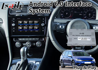 Çin Orijinal Araba Video Arayüzü Android GPS Navigasyon Kutusu VW Skoda Multimedya DVR MirrorLink Distribütör